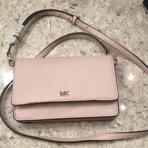 Michael Kors Pebble Leather Phone Crossbody Wallet